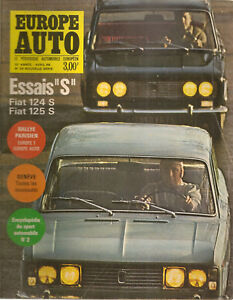 EUROPE AUTO 1969 25 FIAT 124S 125 S SALON GENEVE ALFA 1750 GTV BMW 2500 NSU RO80