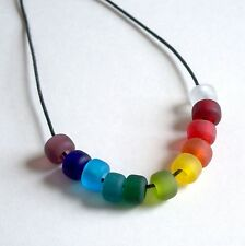 Matte Color Mix Crow Roller Beads, Pony Beads 9mm 50pc, Transparent Matte Beads