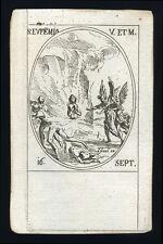 santino incisione 1600 S.EUFEMIA DI CALCEDONIA V.M.  j. callot