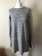 Glamorous Grey Swing Trapeze Dress Size 6 Soft Comfy Autumn Relaxed