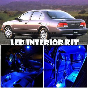 For 94-99 Nissan Maxima LED Interior Xenon Package Light Bulb Kit Deal (Blue)