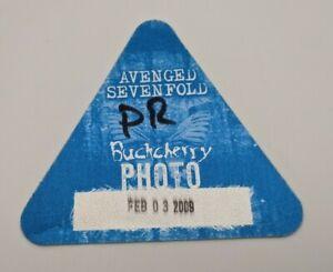 AVENGED SEVENFOLD BUCKCHERRY Backstage Pass 2009 World Concert Tour Photo