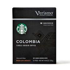 Starbucks Verismo COLOMBIA Single Origin Brewed Coffee Pods 12 Medium Roast