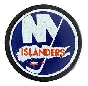 Vintage NHL Rare New York Islanders 1970's Cooper Souvenir Puck