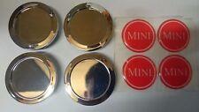 """Classic Mini Red """"MINI"""" Cromo Ruota Centro Tappi Minilite ROVER COOPER 2GM3"""