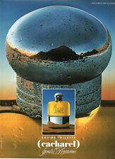 Publicité Advertising 1989  Parfum CACHAREL pour l'homme eau de toilette