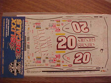 1999 TONY STEWART #20 HOME DEPOT 1/24-1/25 SCALE SLIXX  WATER SLIDE DECAL SHEET