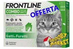 Frontline Combo Gatti 6 pipette Antiparassitario Antizecche Antipulci Gatto