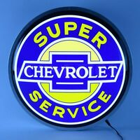 Chevrolet Super Service Back lit LED sign opti neon garage Chevy bowtie lamp