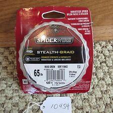 Spider Wire Stealth Braid fishing line 65 LB, 125 YD (lot#10454)