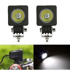 2pcs 10W CREE Square LED Work Light Spot Pods Off Road Motor Bike Car Head lamp