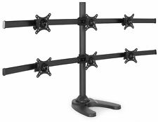 VIVO Hex LCD Monitor Desk Mount Stand Heavy Duty Adjustable 6 Screens up to 24""