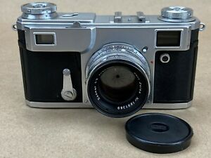 No-Name Contax Vintage Rangefinder Camera w/ Zeiss 50mm f/2 Lens - Clean & Rare