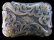 Western Cowboy Cowgirl Rodeo Rider Flower Floral Belt Buckle Boucle de Ceinture