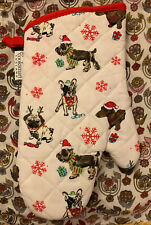 French Bulldog Pug Dachshund Schnauzer Dogs Holiday Oven Mitt Cooksmart Nwot
