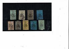 K962 Dominican Republic 1866-74 Imperfs on coloured paper c£V. HIGH! if original