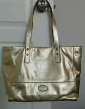 Fossil Celia Shopper Gold Handbag NWT New Leather Purse SHB1216710 Metallic!
