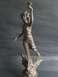 Antike Metall Figur  Frankreich um ca.1900  Höhe 47cm