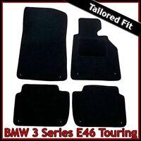 BMW 3-Series E46 Estate 1998-2006 Tailored Fitted Carpet Car Floor Mats BLACK