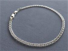 "10""- Rombo -3mm -050- Italy 925 New-Italian Sterling Silver Ankle Bracelet -"