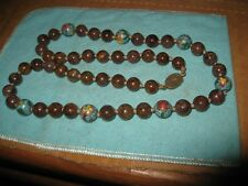 """Exquisite Jaspar and Cloisonne Beaded Knotted Necklace from China 24"""""""