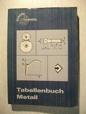 Tabellenbuch Metall - Europa Lehrmittel von 1968