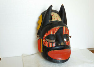 Ältere gebrauchte Holzmaske, Mittelamerika/Mexiko - Diabolo-Maske, 37x26cm.