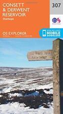 OS Explorer Map (307) Consett and Derwent Reservoir by Ordnance Survey | Map Boo