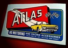 Vintage Style ATLAS HO MOTORING • 1962 T-Bird • Slot Car Sticker • Pit Box Decal