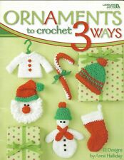 Used Ornaments To Crochet 3 Ways Christmas 12 Designs Crochet Pattern Book