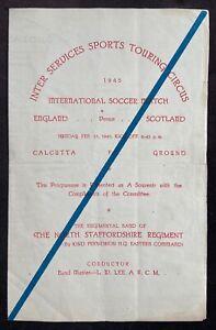 Football 1945 Inter-Services Sports Touring Circus England v Scotland - Calcutta