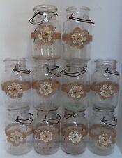 10 Burlap Mason Jar Antique Paper Cream & White Wedding Party Shower Wraps A6