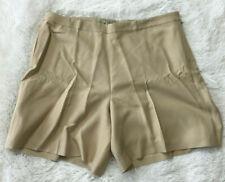 Tommy Bahama 10 Silk Shorts Beige Khaki Flat Front Casual Womens