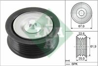 V-RIBBED BELT DEFLECTION GUIDE PULLEY INA OE QUALITY REPLACEMENT 532 0866 10