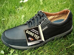 Clarks PLUS* WATERPROOF Shaw Run Gtx Black Leather shoe MEN UK-11 G  EU-46 M