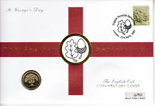GB QEII MERCURY PNC COVER 2001 ENGLISH DEFINITIVES ST GEORGE'S DAY POUND COIN 92