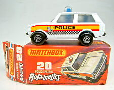 "Matchbox Superfast Nr.20B Police Patrol ""Police"" gelb/rot/schwarz schwarze Bpl."