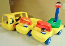 3  LITTLE  TIKES VINTAGE  TRUCKS/VEHICLES  -  BUS,  FLAT  BED,  CHERRY  PICKER