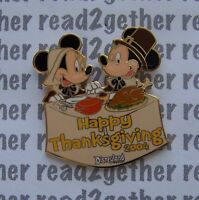 Disney Pin DLR Mickey and Minnie Happy Thanksgiving
