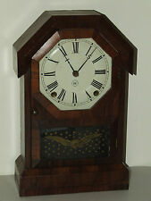 Antique Working SETH THOMAS Octagon Top 8 Day Rosewood Cottage Clock c.1860 RARE