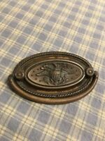 "Vintage Art Nouveau Presidential Seal Swing Handle Drawer Pull Eagle Rare 3-1/4"""