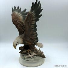 Homco 1996 Majestic Wings Bald Eagle Masterpiece Home Interior Vingage Figurine