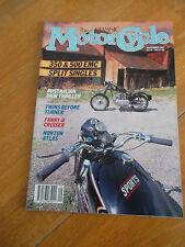 THE CLASSIC MOTORCYCLE SEP 1991 AUSTRALIAN DKW THRILLER NORTON ATLAS FANNY-B