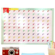 100Tage  Lernen Zeitplan Periodensystem Countdown Kalender Planung Gesche#HOT