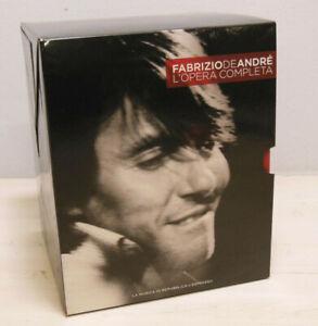 Fabrizio De André L'opera completa Cofanetto 14 CD 1 DVD Repubblica L'Espresso