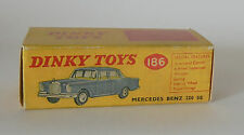 REPRO BOX DINKY n. 186 MERCEDES BENZ 220 se
