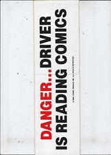 1985 Marvel Bumper Sticker-Danger...Driver is Reading Comics
