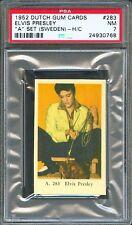 "1952 Dutch Gum Card ""A"" Set #283 ELVIS PRESLEY with Pet Kangaroo PSA 7 Rare!!"