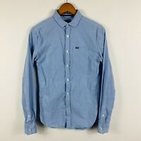 Superdry Mens Button Up Shirt Size XS Blue Long Sleeve Smart Casual
