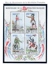 BLOC personnages de la révolution 1989.  Y&T n° BF11 cote 5,00€